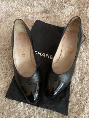 Chanel Szpilki czarny Skóra