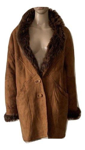 Vintage real fur  suede coat