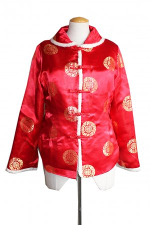 Vintage Red Asian Style Jacket