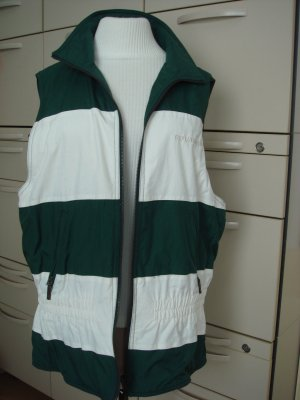 Red Green Reversible Vest natural white-dark green mixture fibre