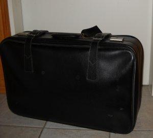 Valise noir-argenté faux cuir