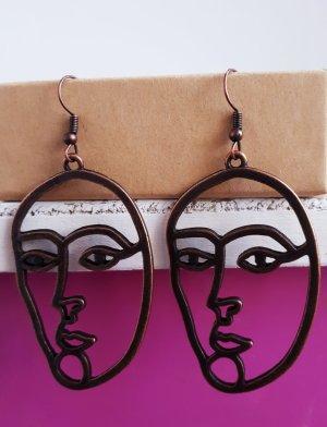 Vintage Pendant d'oreille bronze