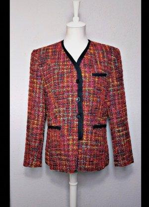 Vintage/Retro Blazer bunt, 80er, Schulterpolster, Peter Hahn