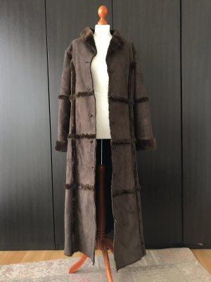 Vintage Jas van imitatiebont donkerbruin-bruin