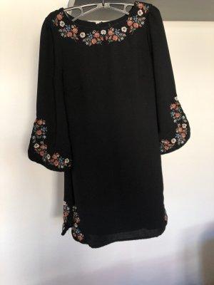 Vintage Retro Kleid schwarz Stickereien