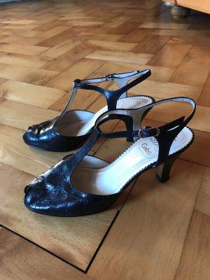 Vintage Retro Sandaletten Peeptoes Tanzschuhe von Gabor Gr. 36