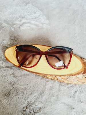 Vintage Gafas burdeos-rojo amarronado
