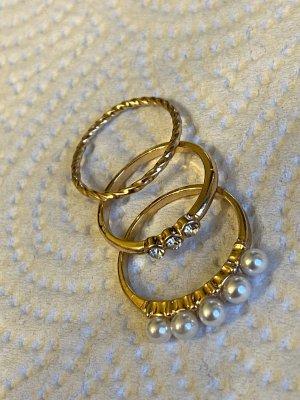 Vintage ring gr 16/52 Perlen