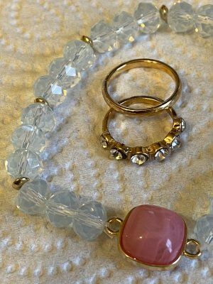 Vintage ring gr 16/54 vintage armband Türkis Steine
