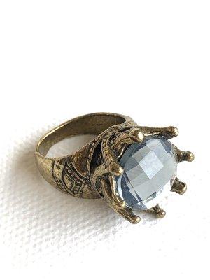 Vintage • Ring • Krone Gr. 17