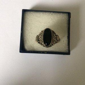 Vintage Ring mit Onyx