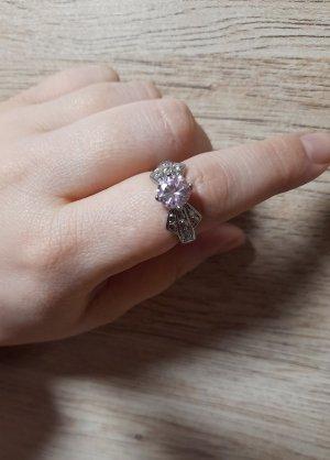 Statement ring lichtroze-zilver