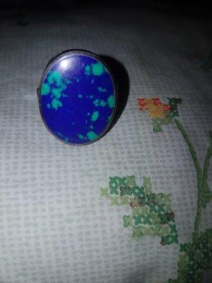 True Vintage Zilveren ring veelkleurig