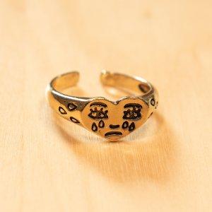 Vintage Ring mit weinendem Herz