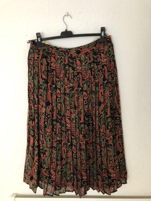 True Vintage Jupe plissée multicolore
