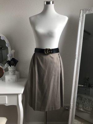 Falda de talle alto gris