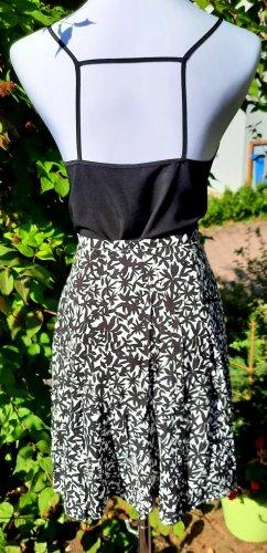 Vintage Spódnica midi biały-czarny