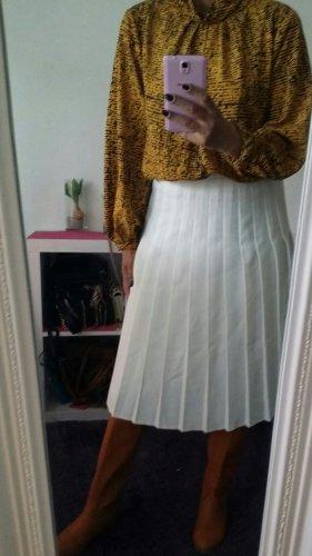 Plaid Skirt natural white