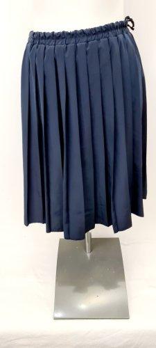 Vintage Love Jupe plissée bleu foncé