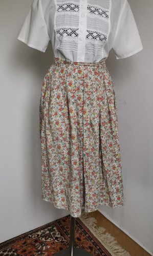 Vintage Jupe taille haute multicolore