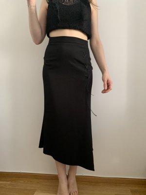 Vintage Spódnica midi czarny