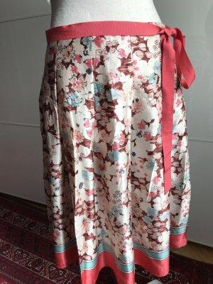 Zara Falda de seda multicolor