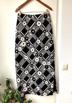 Jupe en laine noir-blanc