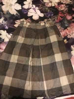 Vintage Gonna di lana marrone chiaro-grigio Lana