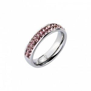 Vintage-Rosefarbener Ring von LUNA mit SWAROVSKI-Kristallen
