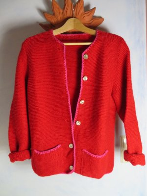 Vintage Coarse Knitted Jacket red-pink new wool