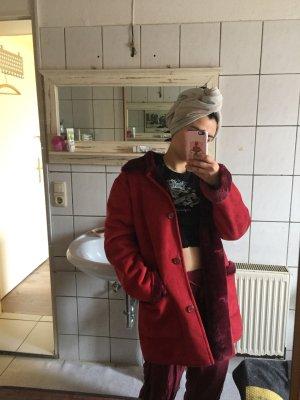 Vintage roter mantel Größe M
