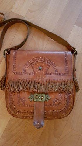 Vintage Saddle Bag Tasche Leder Braun