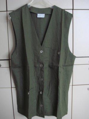 Vintage Smanicato sport verde scuro Cotone
