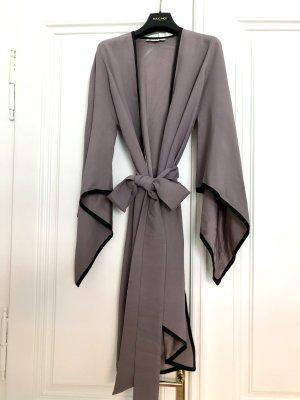 Saint Laurent Veste longue gris-noir soie