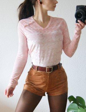 Vintage Samtshirt rosa strukturiert, 90s princess Sweater pink pastell Bonbon