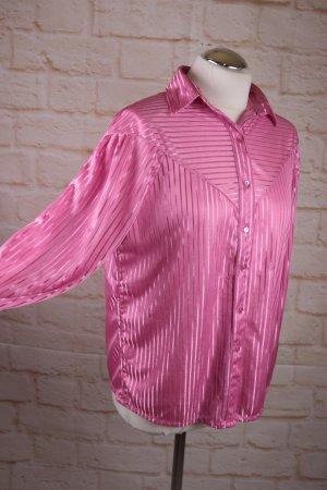 Vintage Połyskująca bluzka różowy-różowy Poliester