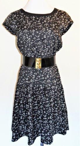 Vintage Midi Dress black-white