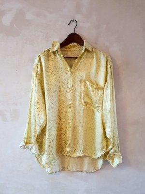 Oversized shirt lichtgrijs-sleutelbloem