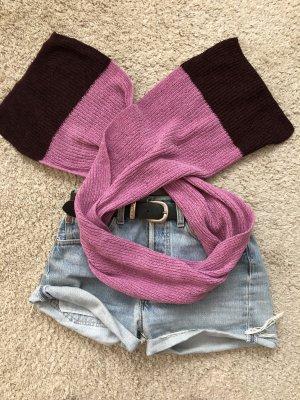Gebreide sjaal roze-braambesrood