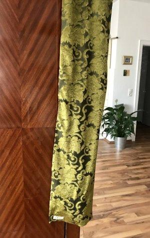 Vintage Schal, olivgrün, samt