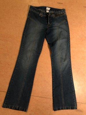 Calvin Klein Jeans Dzwony stalowy niebieski