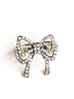 Vintage • Schleifen Ring • bronze antik