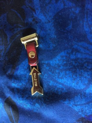 Goldpfeil Key Chain bordeaux-gold-colored