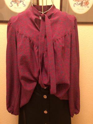 Vintage Tie-neck Blouse grey-pink
