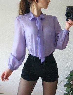 True Vintage Tie-neck Blouse mauve-purple