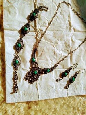 Vintage Silver Bracelet silver-colored-turquoise
