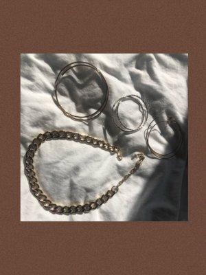 Vintage Ketting goud-zilver