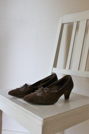 Vintage-Schnürpumps