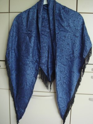 Vintage Shoulder Scarf taupe-steel blue