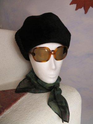 Vintage Cappello di lana nero Mohair